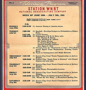 One Of The First TV Stations. (Check out their schedule in 1929!)